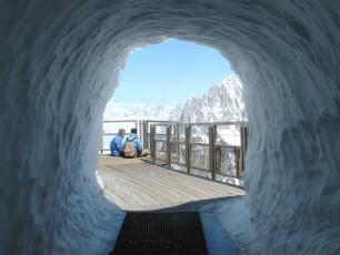 Aiguiile du Midi: le Tunnel de neige, photo par CMB