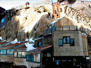 "The ""3842"" Restaurant at the Aiguille du Midi summit is open in summer - Photo courtesy by CMB"