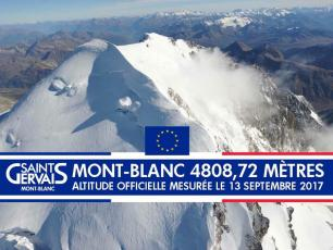 It's official! On 13rd September 2017 the Mont Blanc's new height is 4808.72 meters! Photo source: @www.twitter.com/LeicaGeoFR
