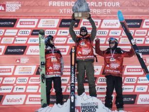 Leo Slemett won last winter in the Men's Ski Final. Photo source: D. Daher/Freeride World Tour