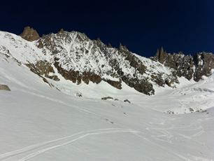 South Face of Les Courtes: Mont-Blanc Massif