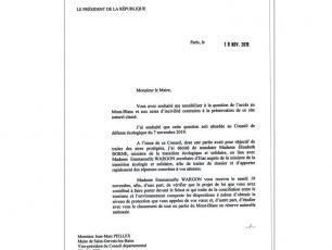 Letter sent by President Macron to the Mayor of Saint-Gervais, photo source @ledauphine.com
