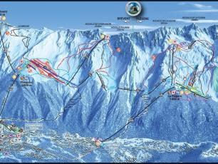 In blue, the new Parsa chairlift. photo source: @www.remontees-mecaniques.net