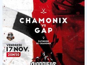 Prochain match à Chamonix: ce vendredi 17 novembre 2017, dès 20h30, sur la glace de Richard Bozon. Chamonix vs Gap