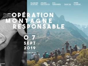 Operation Montagne Responsable 2019 poster, photo source @lafuma.com