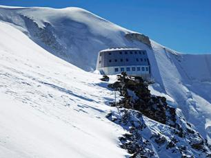 The new Gouter Refuge in the Mont Blanc Massif