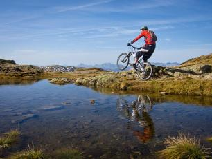 Cycling the Mont Blanc: Graham Pinkerton at Aiguillette des Houches 2285m