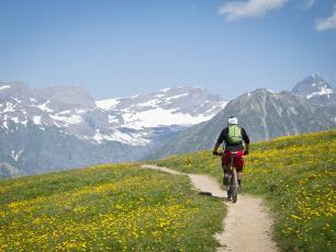 Mountain biking: Luke Jarmey at Col de Balme 2640m