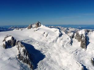 Vallee Blanche, from Helicopter. Photo © Jean-Charles Somville