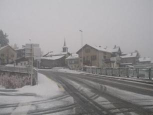 Icy Road in Chamonix