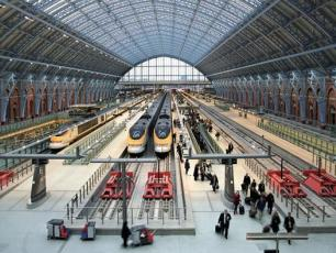 St Pancras International Station from London
