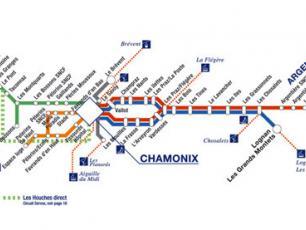 Автобусная карта долины Шамони