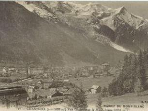 Chamonix Ville et Massif du Mont Blanc