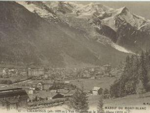 Chamonix Town and Mont Blanc