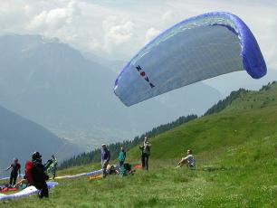 Takeoff at Les Houches Copyright @ Flyout