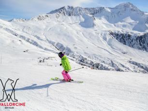 Skiing at Le Tour Balme Vallorcine ski area