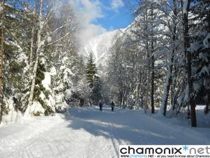 Les pistes de ski de fond à Chamonix Mont Blanc