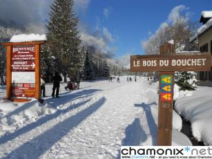 Bois du Boucher, the start of the Chamonix X Country ski area