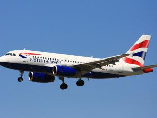 British Airlines - Plane from UK to Chamonix