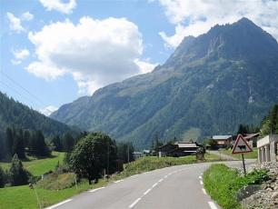 Road from Chamonix - Mont Blanc to Col des Montets