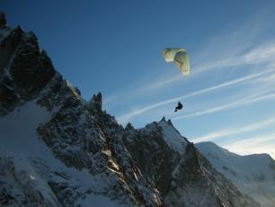 Paragliding Flégère take off