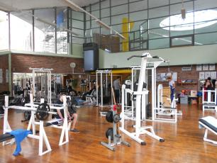 The gymnasium (salle de musculation) at the Chamonix Sports Center