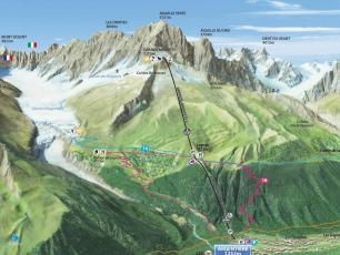 Grands Montets Map