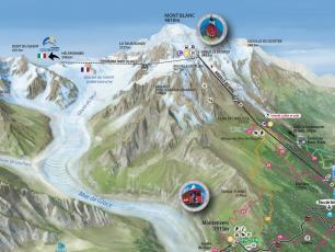 Aiguille du Midi Map