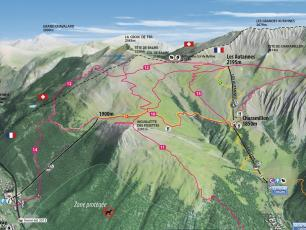 Balme Ski Resort Map
