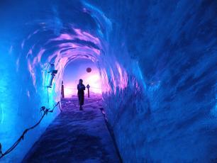 Mer de Glace Cave in Chamonix Mont Blanc