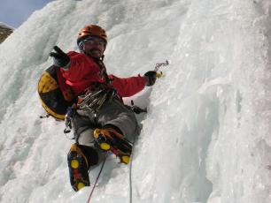 Ice Climbing in Trient, Switzerland