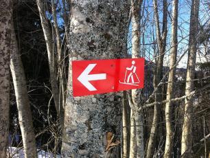 Les Houches ski touring route track