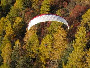 Paragliding at Les Houches