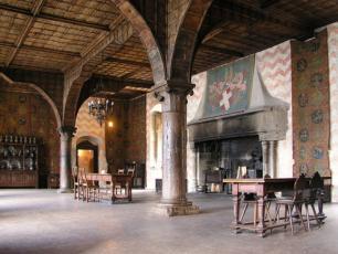 Interior Château Chillon in Switzerland