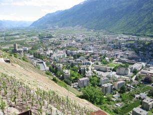 La ville de Martigny en Suisse