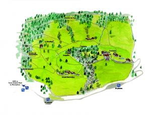 Merlet Animal Park Access Plan Copyright @ Parc de Merlet