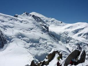 Summit of Mont Blanc viewed from afar