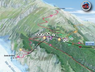Map of Montenvers Mer de Glace