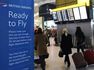 Passengers move through gates