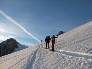 Лыжные трассы вверх по Монблану