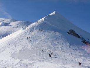 l'arête des Bosses, c'est la partie finale de l'ascension du Mont Blanc