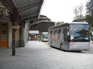 SAT Autobus at the SNCF station