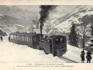 One of the first Journey's of the Mont Blanc Tramway