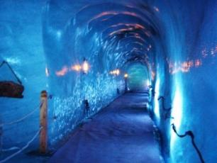 The ice grotto Mer de Glace