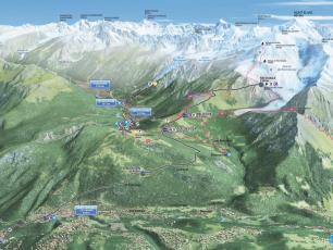 Tramway du Mont Blanc Map
