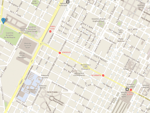 Turin Map showing the distance between Porta Nuova and point A (Corso Vittorio Emanuele 131)