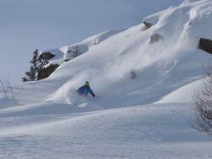 Hors Ski Piste dans le domain La Flégère. Photo @ Philippe Collet