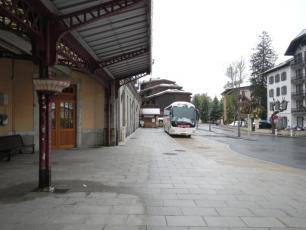 Билетная касса на железнодорожном вокзале в Шамони