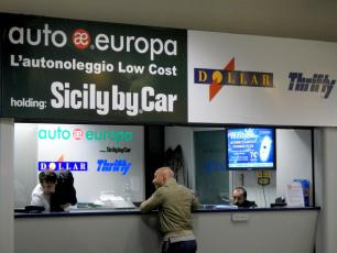 AutoEuropa, Dollar Thrifty Car Hire Companies Arrival Hall Caselle Airport