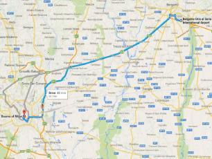 Bergamo Milan Centre Distance